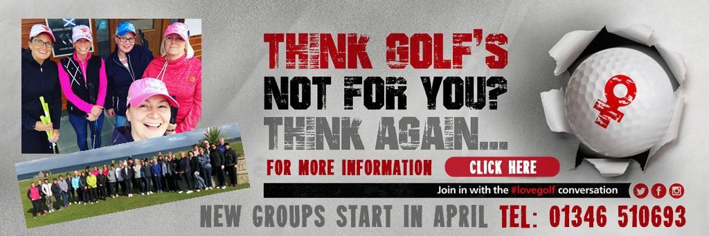 Beginner Golf coaching for women in Fraserburgh, Aberdeesnhire with a PGA Professional at Dunes Golf Centre