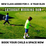 Extra Junior Class added on a Saturday morning but be quick!