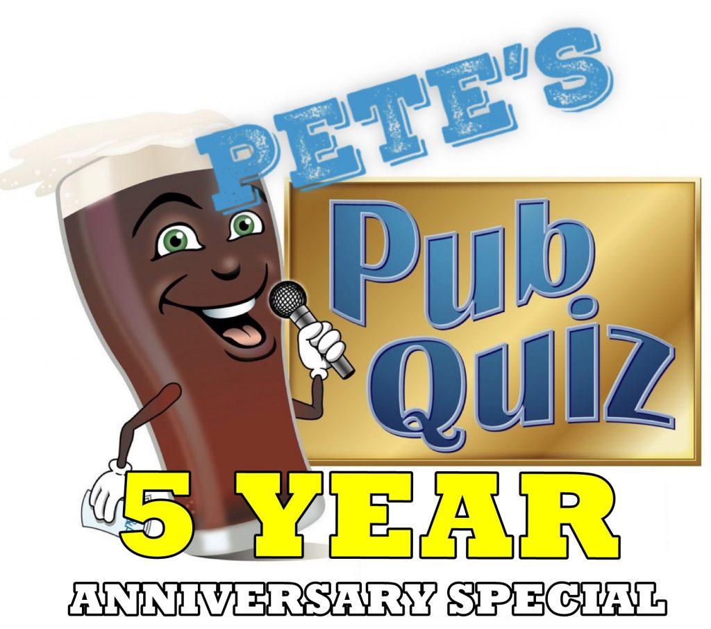 Petes Pub Quiz Anniversary Special