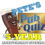 Pete's Pub Quiz Returns on 1st September