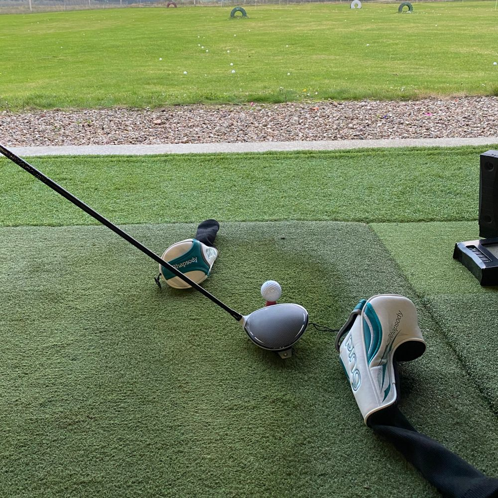 Golf drill to stop a sliced drive