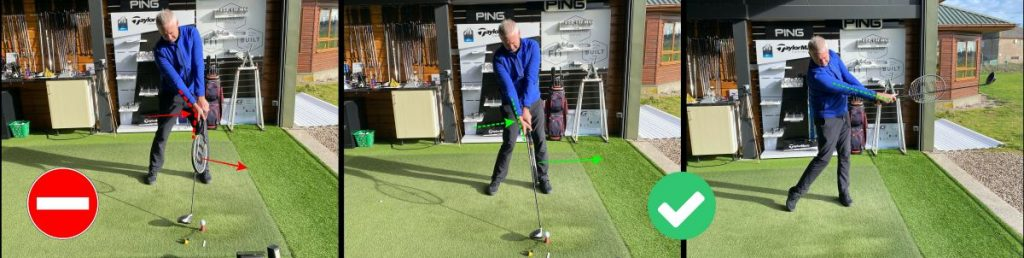 How to release the golf club correctly to stop a slice