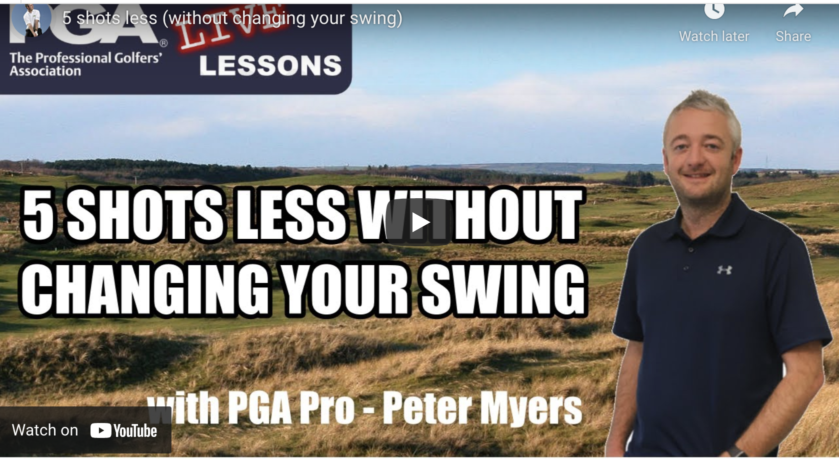 How to improve your golf without changing your swing